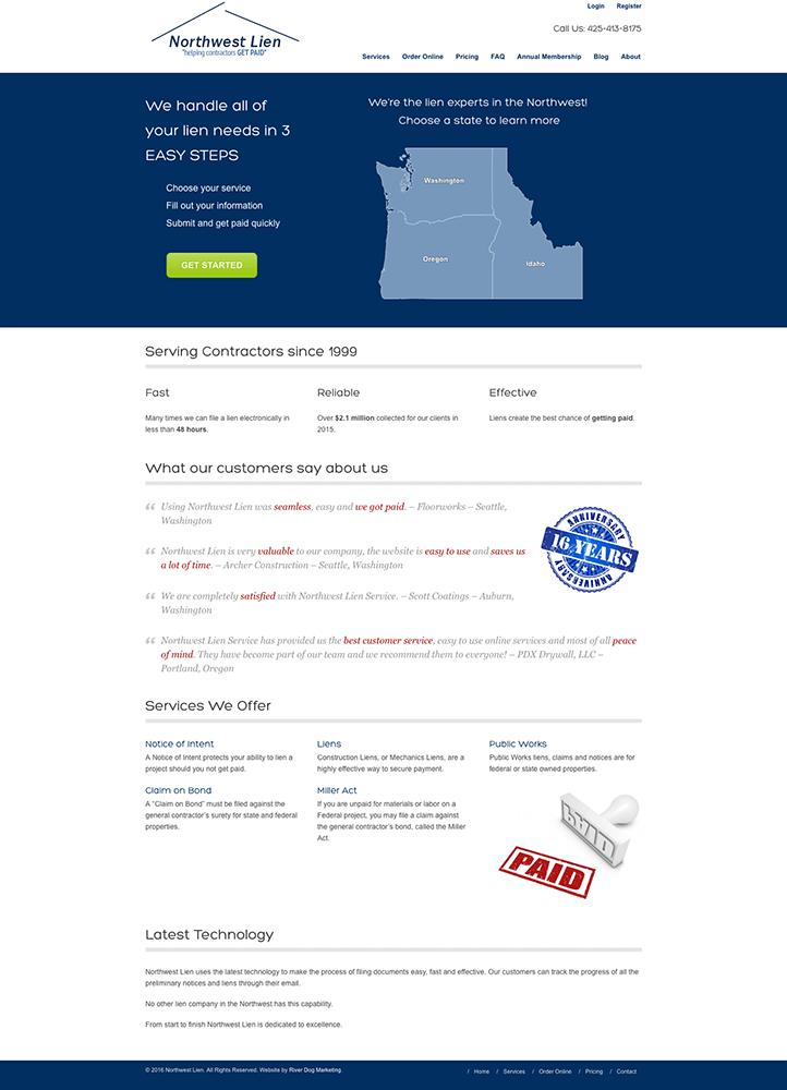 Northwest Lien Service home page