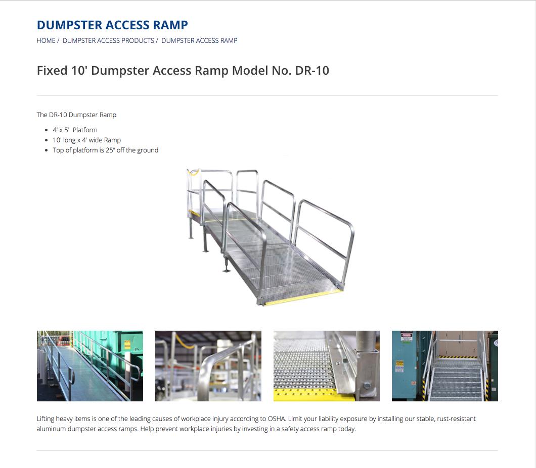 Dumpster Access Ramp Landing