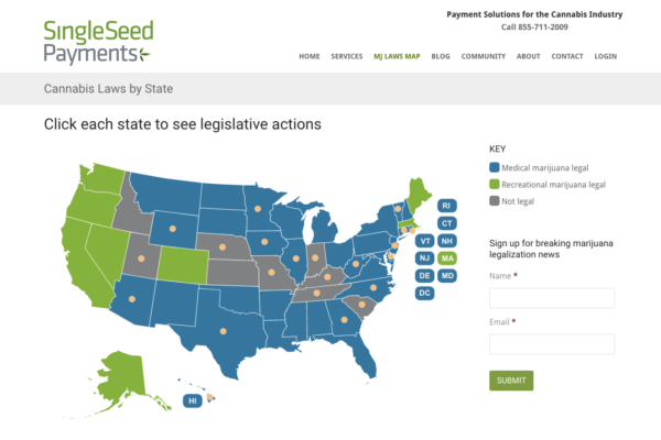 SingleSeed Cannabis Map
